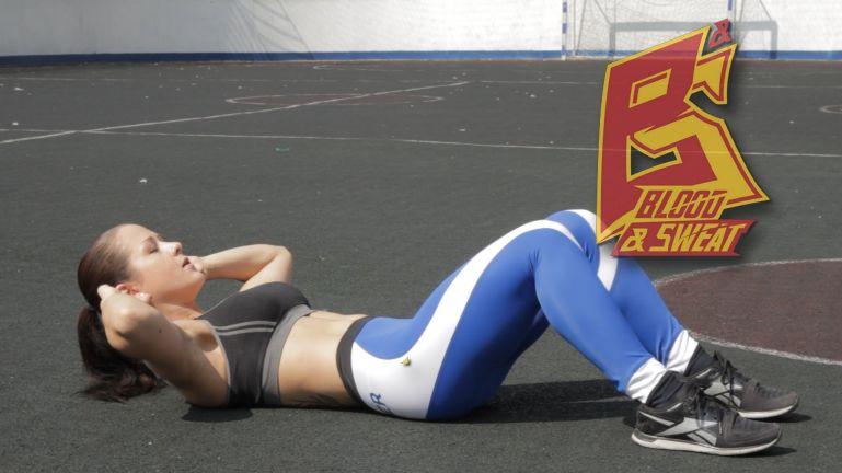 Кроссфит видео. Упражнения на пресс без травм спины и шеи. Нина Самсонова