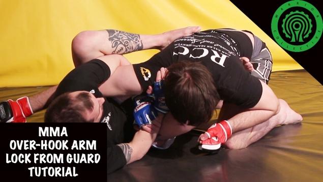 Видео уроки MMA. Рычаг локтя «Овер-хук» в позиции гард