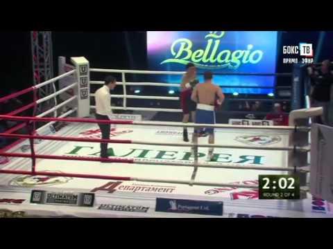 Профессиональный Бокс. Видео боя Мирзарахимов Одилжон -  Гасанов Илгар
