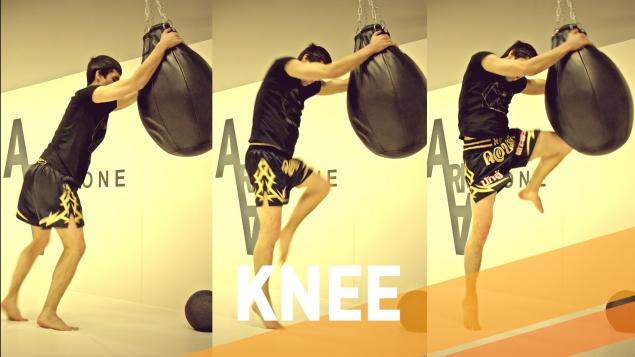 Удар коленом в тайском боксе