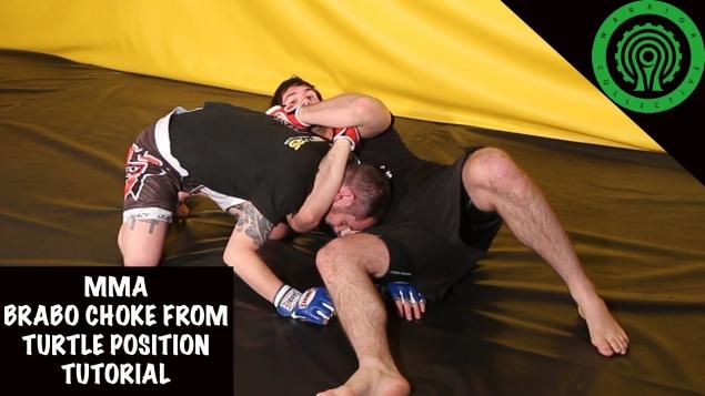 Видео уроки MMA. Удушающий прием «брабо» из позиции черепахи