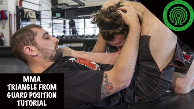 Видео уроки MMA. Треугольник в позиции Гарда