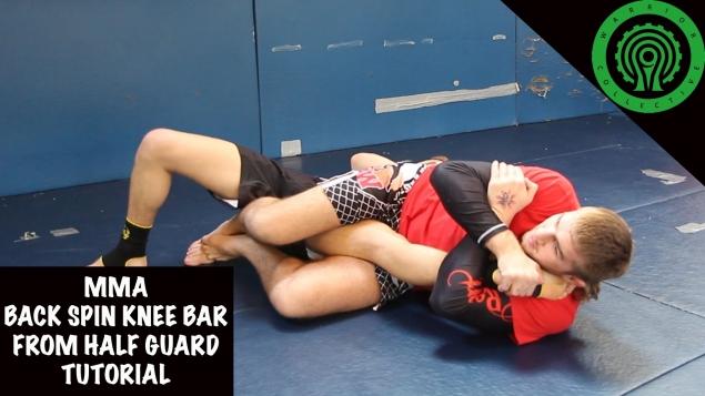 Видео уроки MMA. Болевой на колено из позиции полугард