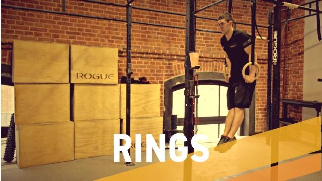 Упражнения КроссФит на кольцах
