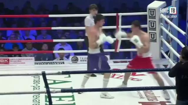 Профессиональный Бокс. Видео боя  Хасиев Дмитрий - Кашин Вадим