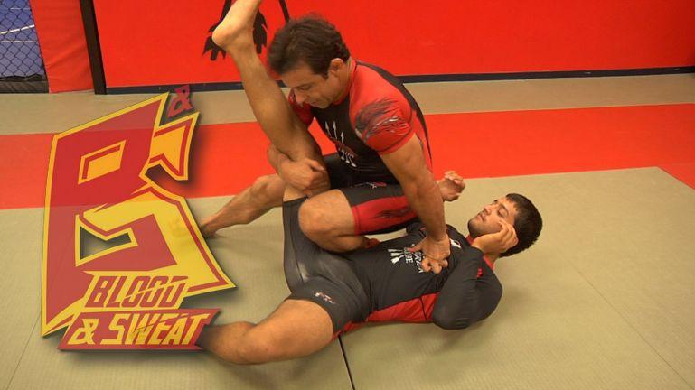 Уроки самбо. K-Dojo. Сваливание с выходом на рычаг колена. TD and kneebar.