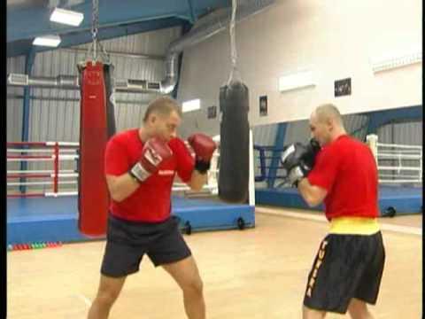 Уроки бокса. Работа с партнером
