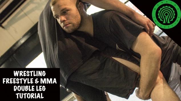 Видео уроки MMA. Бросок захватом двух ног спереди