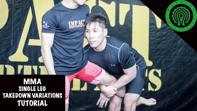 Видео уроки MMA. Варианты броска с захватом ноги