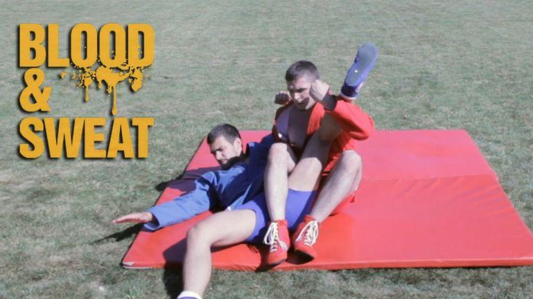 Уроки самбо. Самбо. Рычаг колена из стойки. Маршалл Савчук и Дмитрий Перчило. Sambo. Flying knee bar