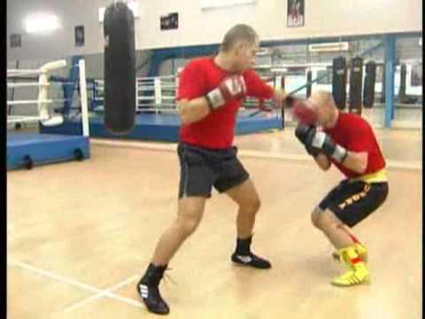 Уроки бокса. Основы бокса. Упражнение на передвижение с партнером.