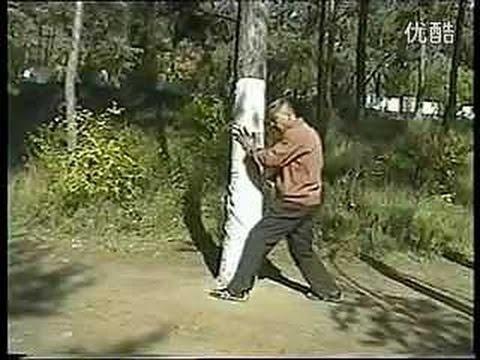Тренировка с партнером и на столбе в ушу Бацзи цюань