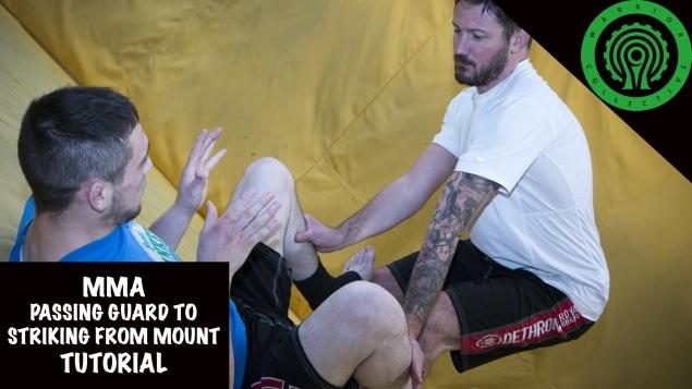 Видео уроки MMA. Защита от ударов в позиции гарда и переход в маунт