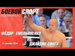 Бой Фёдора Емельяненко против Джайдипа Сингха. 31 декабря 2015г