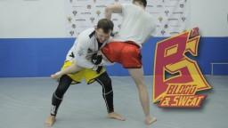 Уроки самбо. Проход в одну ногу в MMA. Single leg takedown in MMA