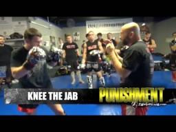 Контратака коленом от удара рукой. Тайский бокс для ММА